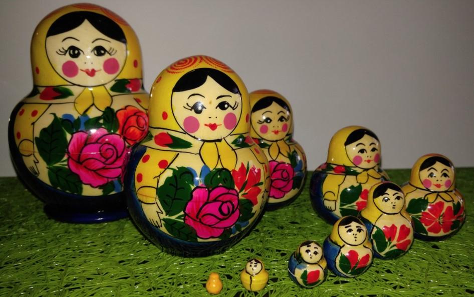 Nesting dolls from souvenir shop of Museum